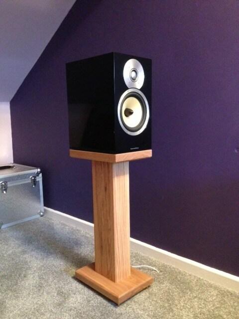 Solid Oak Speaker Stand